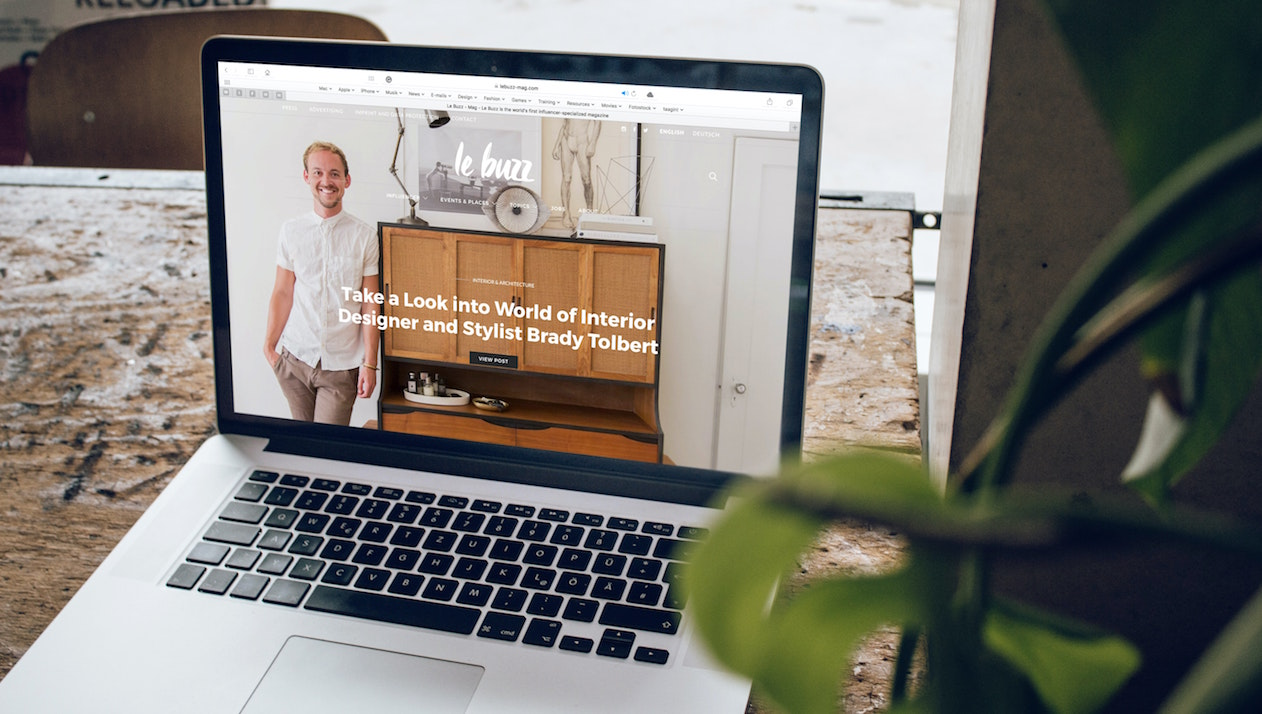 An interior designing website made by a Web developers
